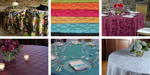 Tablecloth rentals in Parma Heights & North Ridgeville OH