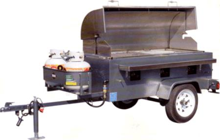 Where to find GRILL, PROPANE, 24  X 60 , TOWABLE in Cleveland