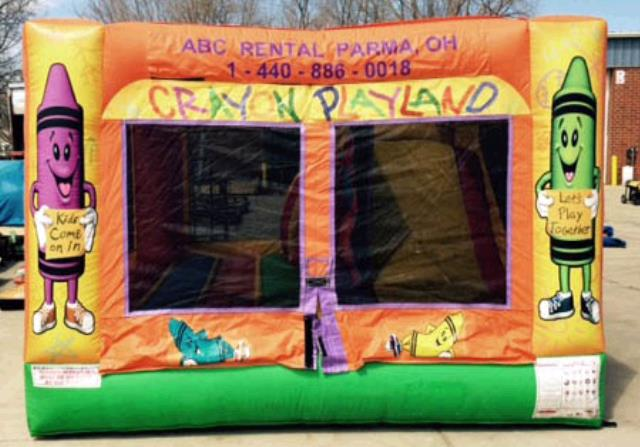 Inflatable 3 In One Crayon Playland Rentals Cleveland Oh